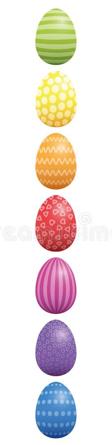 Wielkanocnych jajek wzoru projekta Vertical ilustracji