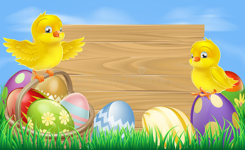 Wielkanocnych jajek znak ilustracja wektor