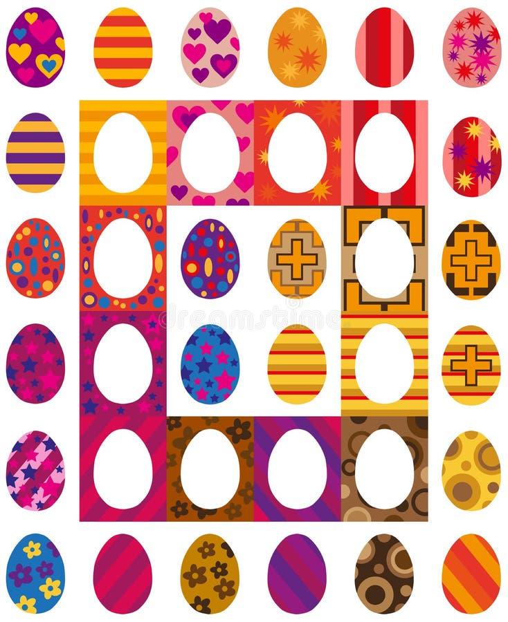 Wielkanocy barwioni jajka royalty ilustracja