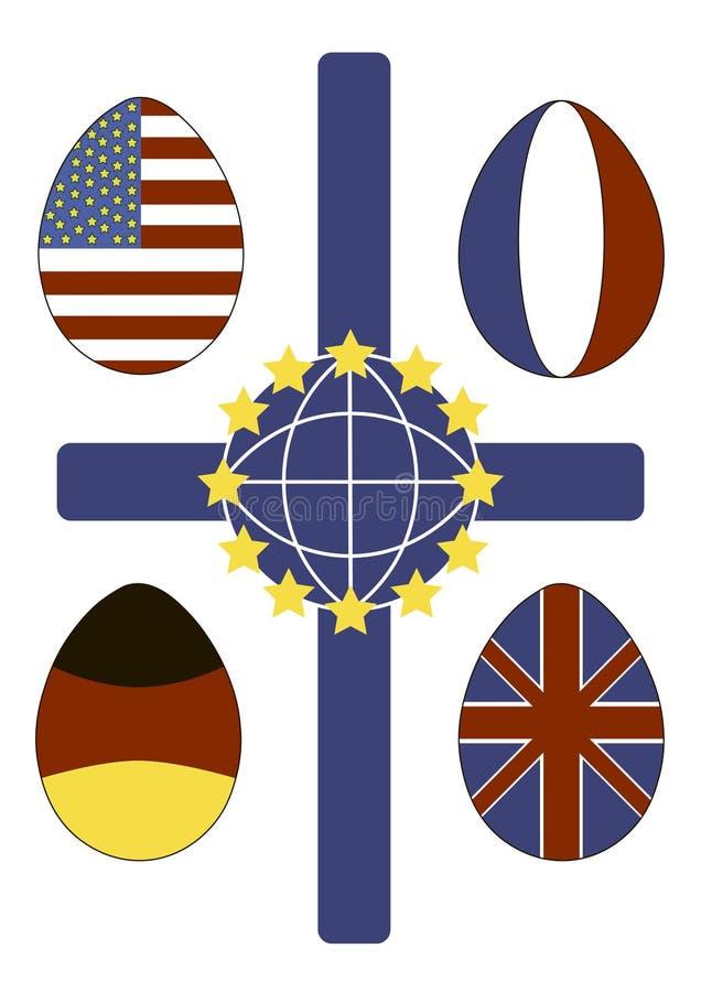 Wielkanocy flaga obrazy royalty free