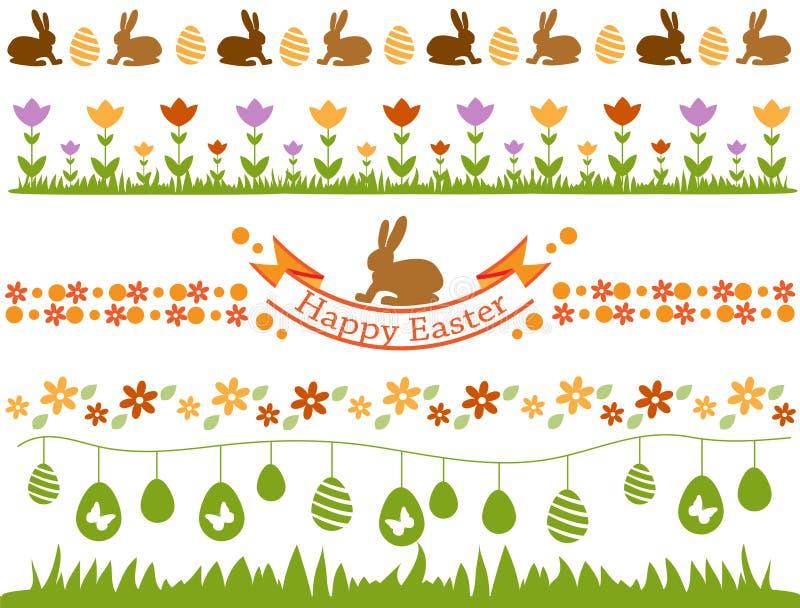 Wielkanocy granicy set ilustracji