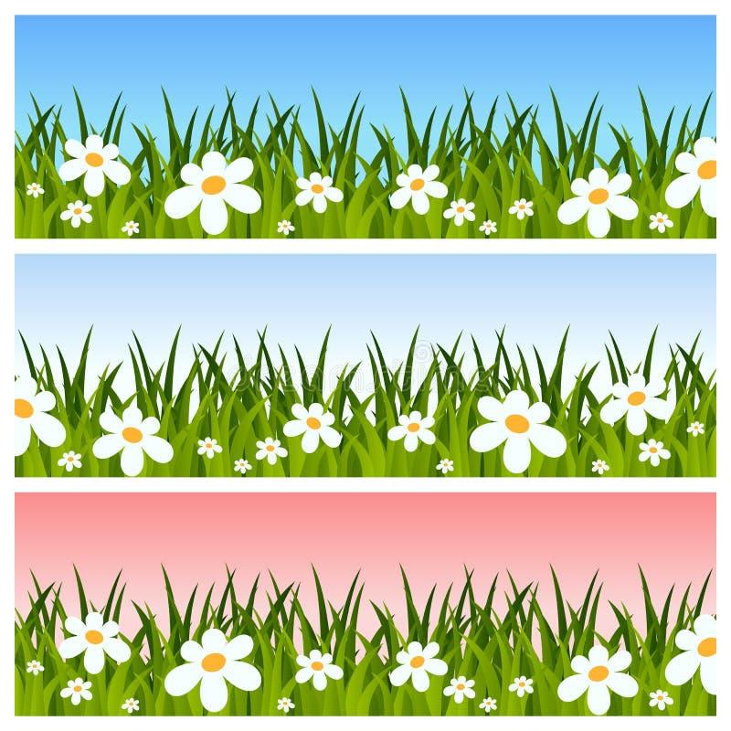 Wielkanocy lub wiosny sztandary royalty ilustracja