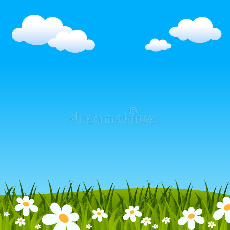 Wielkanocy lub wiosny tło royalty ilustracja