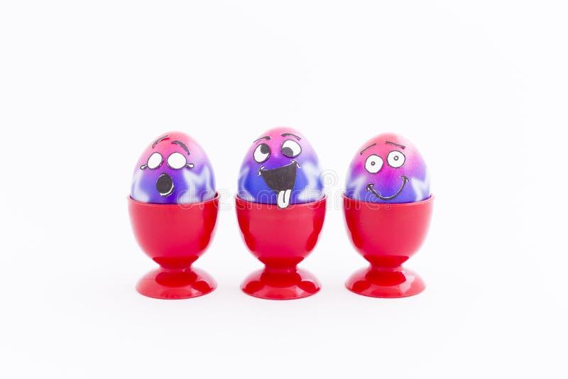 Wielkanocy przyjęcie z szalonymi jajkami zdjęcia royalty free