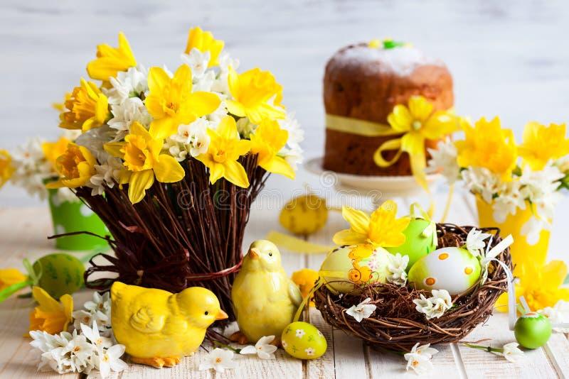 Wielkanocy stołowa dekoracja zdjęcia stock