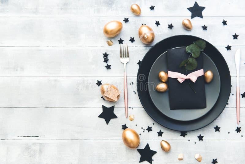 Wielkanocy stołowa elegancka dekoracja zdjęcie royalty free
