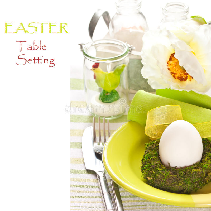 Wielkanocy stołowy położenie. fotografia royalty free