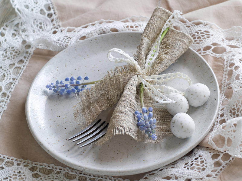 Wielkanocy stołowy położenie zdjęcie stock