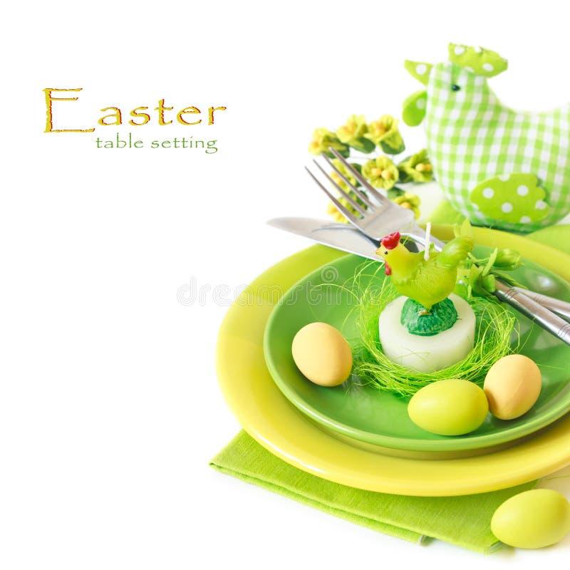 Wielkanocy stołowy położenie. obrazy stock