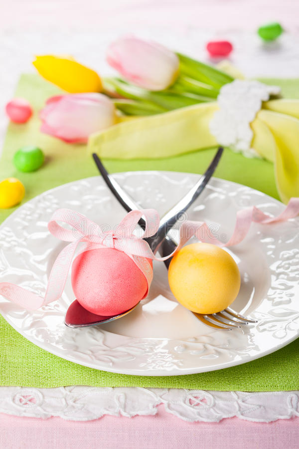 Wielkanocy stołowy położenie fotografia royalty free