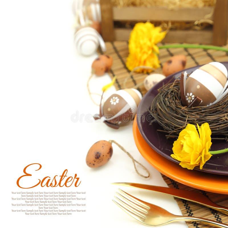 Wielkanocy stołowy położenie obrazy stock