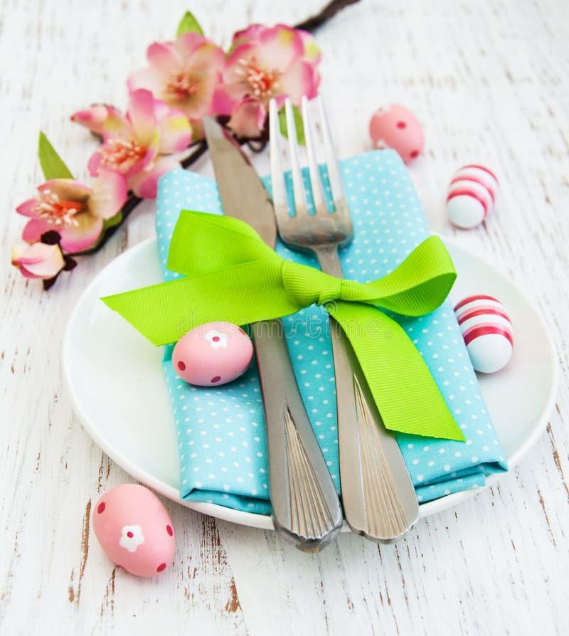 Wielkanocy stołowy położenie zdjęcie royalty free