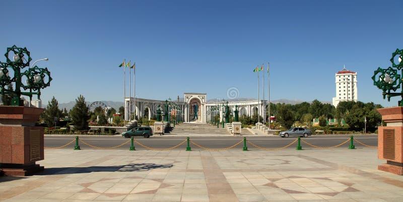 Wielki łuk w kwadracie Ashkhabad Turkmenistan zdjęcie royalty free