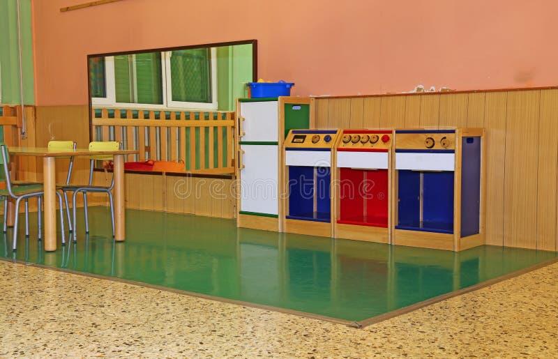 Wielki żywy pokój pepiniera obrazy stock