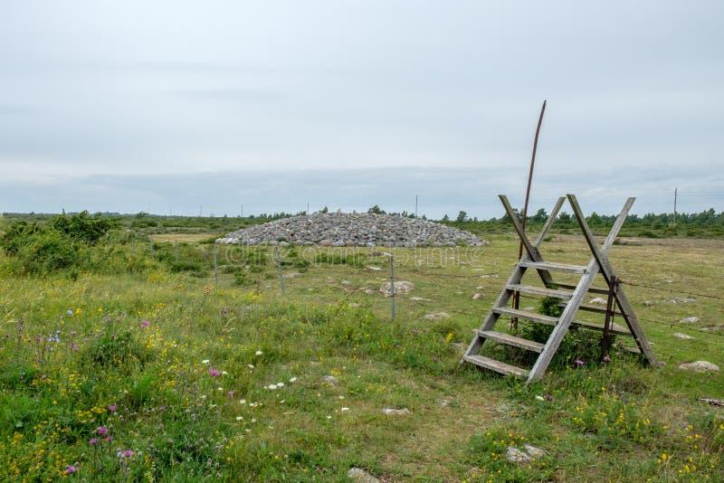 Wielki Alvar na morze bałtyckie wyspie Oland zdjęcie royalty free