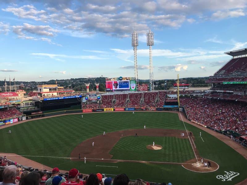 Wielki Amerykański boisko w Cincinnati Ohio obraz royalty free