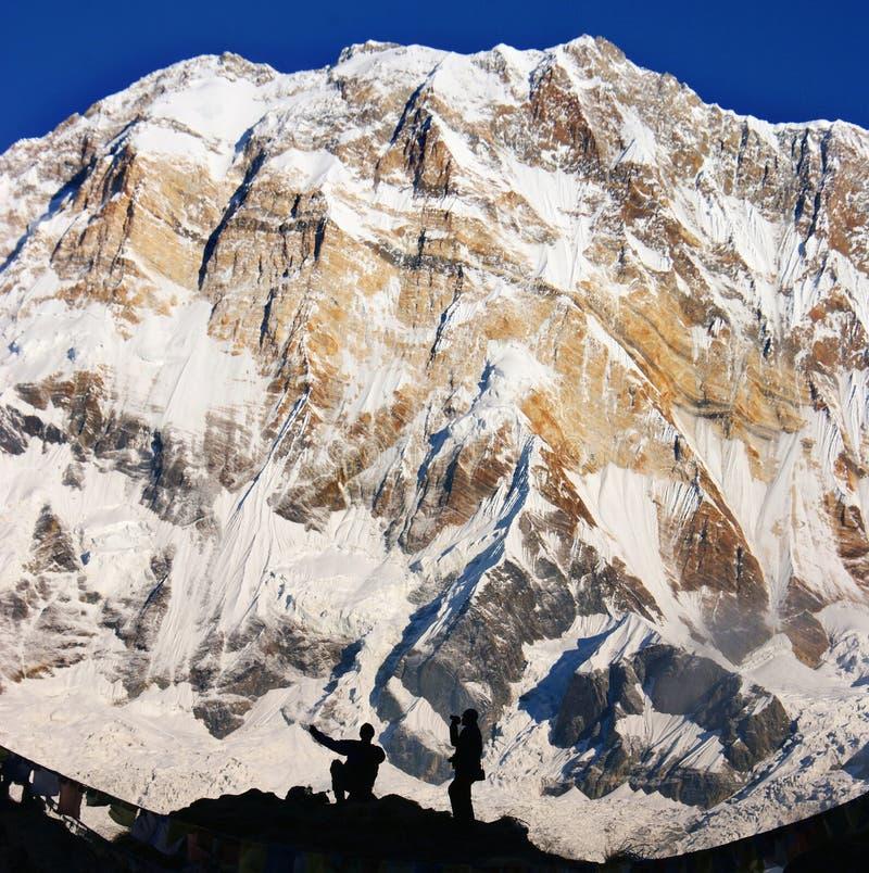 Wielki Annapurna. fotografia royalty free