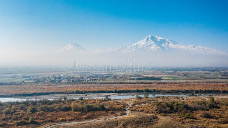 Wielki Ararat i Mały Ararat zdjęcia royalty free