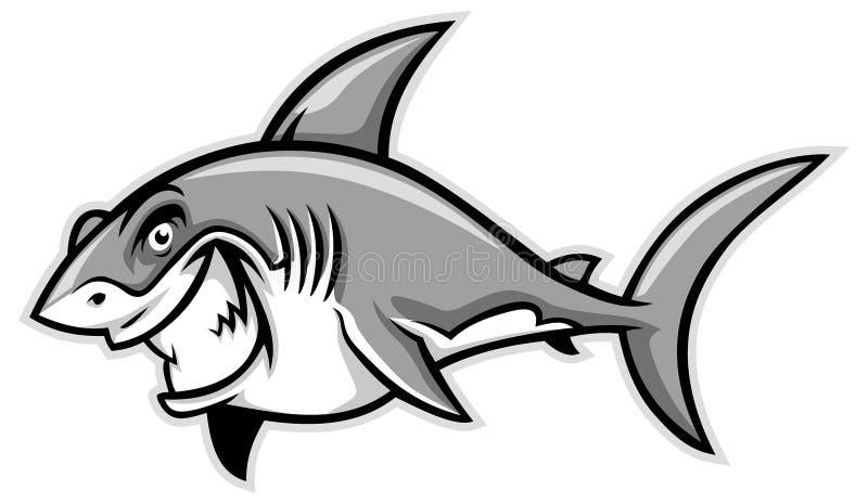 Wielki białego rekinu ono uśmiecha się ilustracja wektor