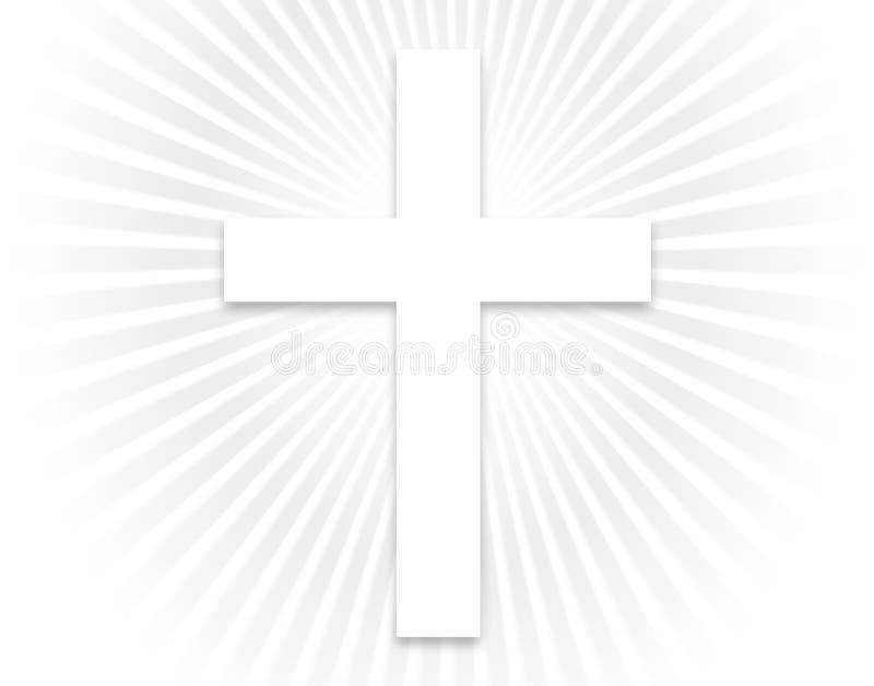 wielki biały krzyż ilustracja wektor