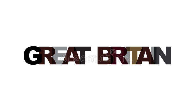 Wielki Brytania, zwrota nasunięcia kolor żadny przezroczystość Pojęcie prosty tekst dla typografia plakata, majcheru projekt, odz ilustracji