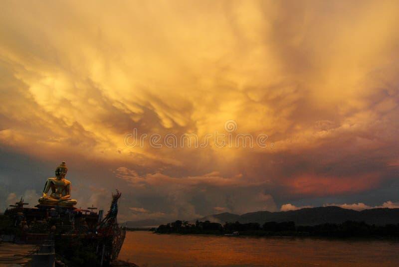 Wielki Budda w Złotym Trójkącie zdjęcia stock