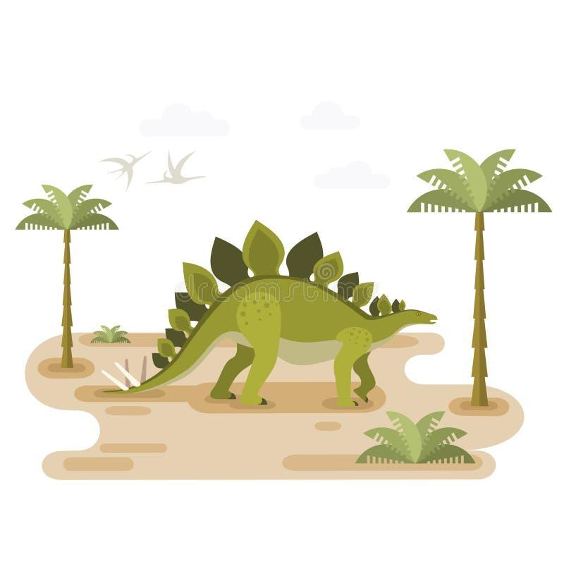 Wielki Chodzący stegozaur ilustracji