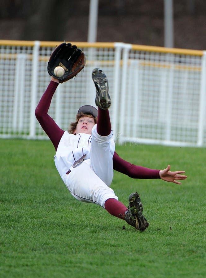 Wielki chwyt szkoły średniej gracz baseballa obrazy royalty free