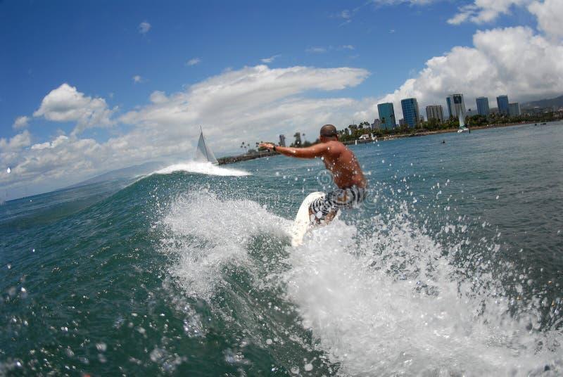 wielki cutback gotowa surf obrazy stock