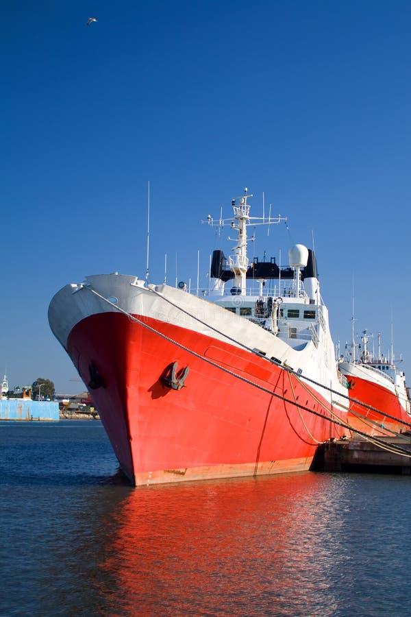wielki czerwony statku fotografia royalty free