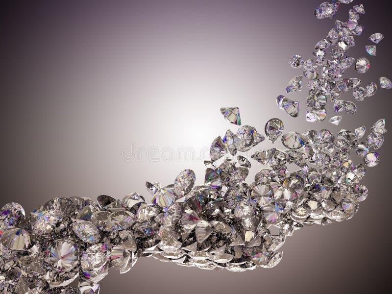 Wielki diamentu przepływ royalty ilustracja