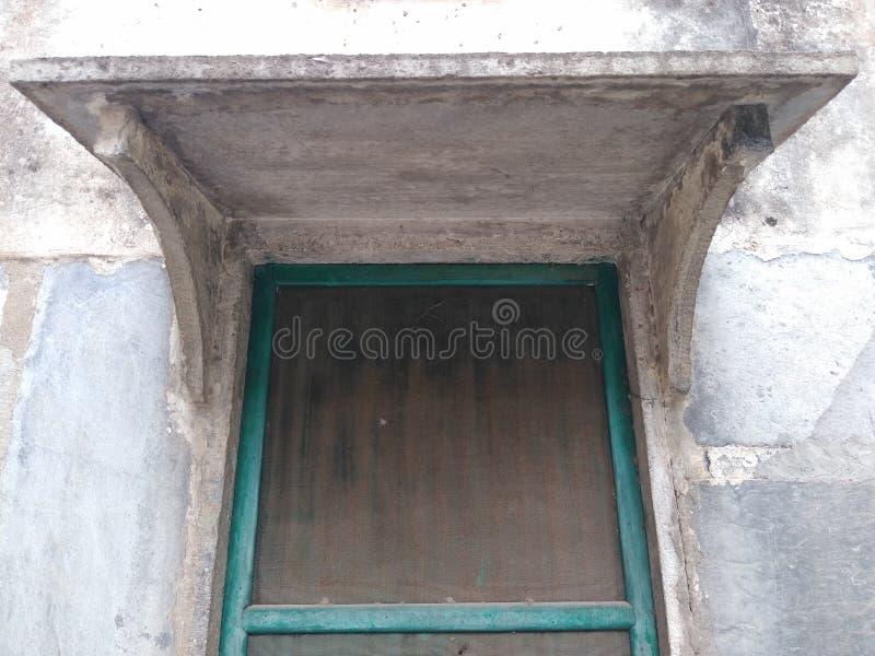 Wielki drewniany okno i kamienia gazebo, Rajasthan obraz royalty free