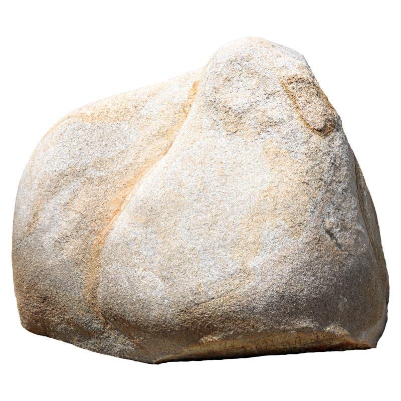 Wielki duży kamień lub skała odizolowywający na białym tle fotografia royalty free