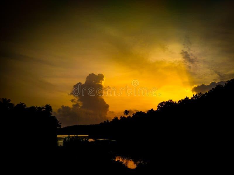 Wielki dynamiczny niebo obraz royalty free