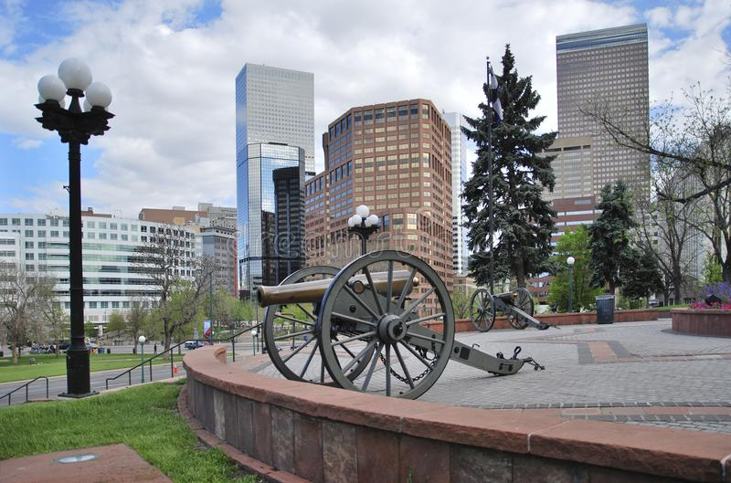 Wielki działo przed Capitol budynkiem Denver, Stany Zjednoczone zdjęcie royalty free