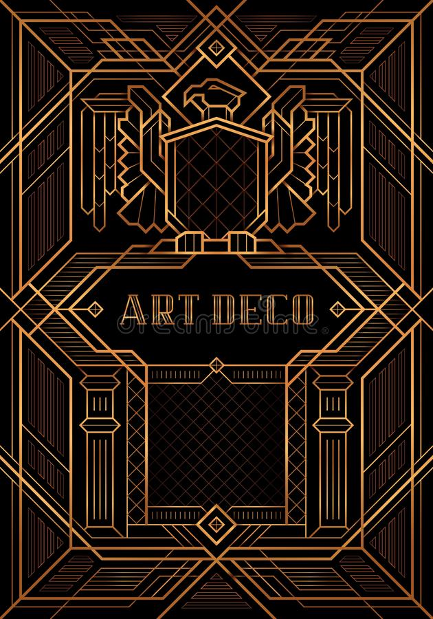 Wielki Gatsby Deco stylu wektor ilustracja wektor