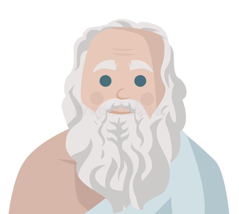 Wielki grecki filozof royalty ilustracja