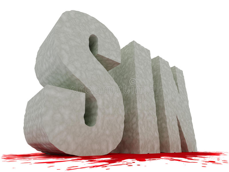 wielki grzechu krwionośny wielki tekst ilustracja wektor