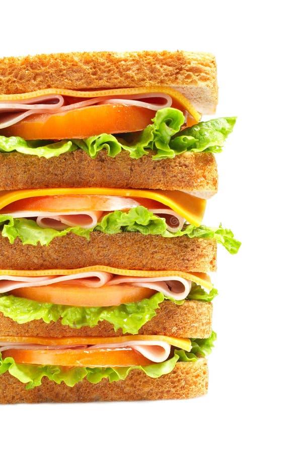 wielki ham kanapka zdrowa. zdjęcie royalty free