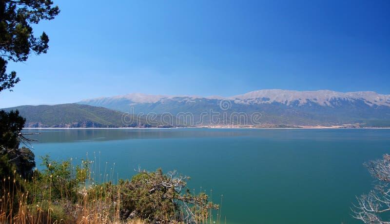 Wielki Jeziorny Prespa, Macedonia obrazy stock