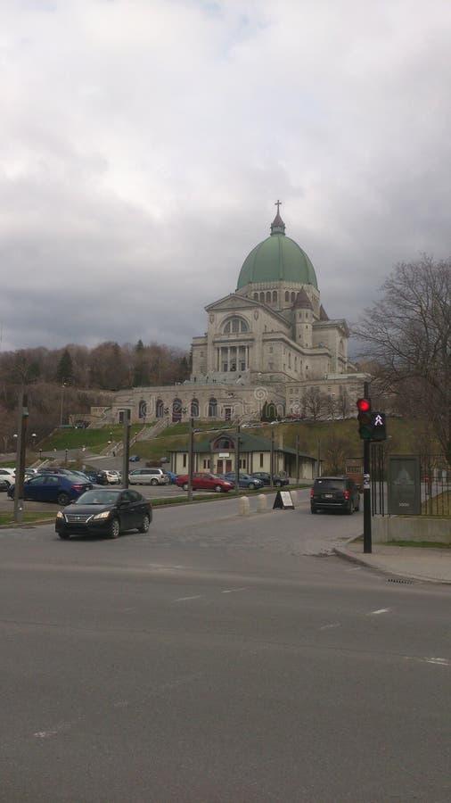 Wielki kościół w Kanada Montreal krasomówstwo st Joseph fotografia royalty free
