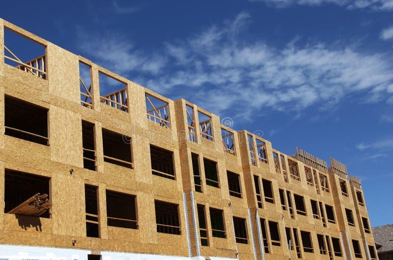 Wielki kompleks apartamentów w budowie obrazy stock