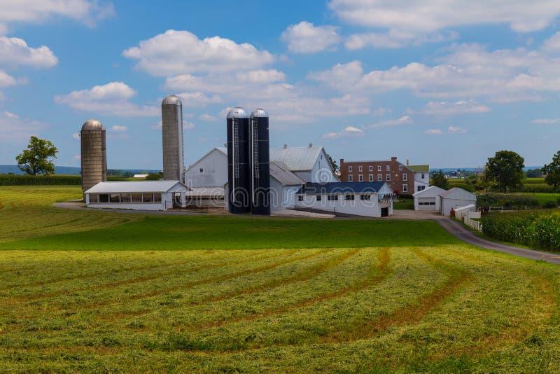 Wielki Lancaster okręgu administracyjnego Amish gospodarstwo rolne w lecie zdjęcie stock
