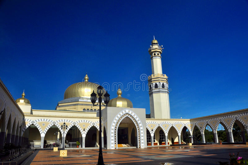 Wielki meczet Lawas, Sarawak, Malezja obraz stock
