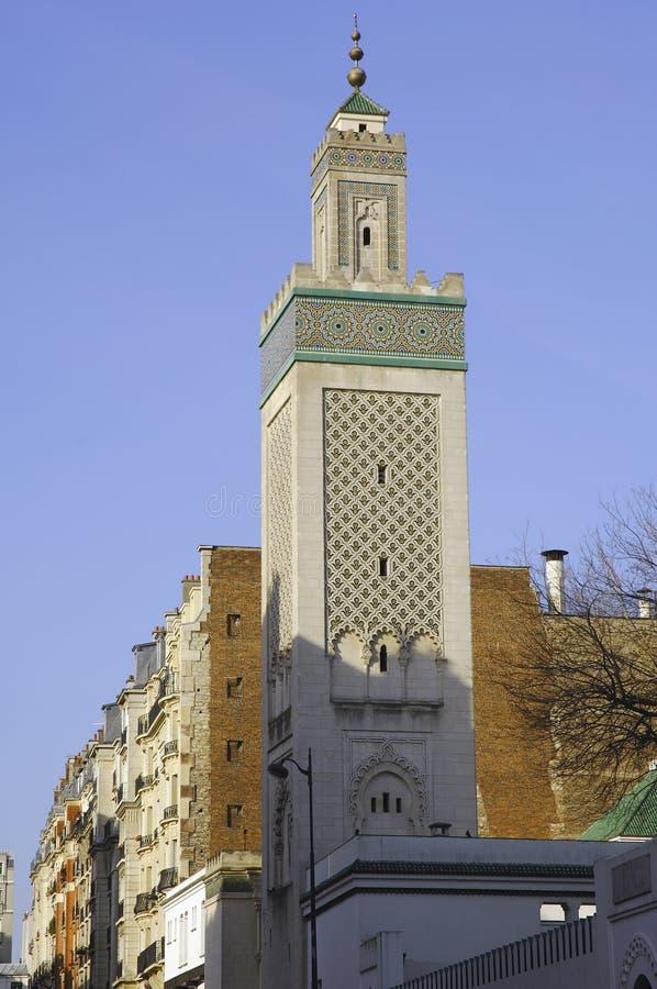 wielki meczetu Paris France fotografia stock