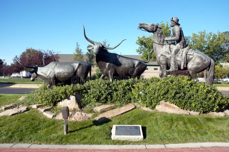Wielki Montana centennial bydło jedzie zabytek zdjęcia royalty free