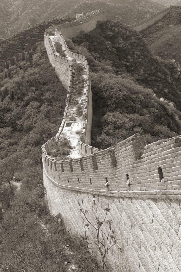 wielki mur. fotografia royalty free