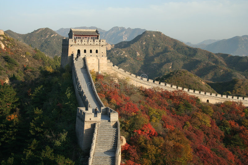 wielki mur. zdjęcia royalty free