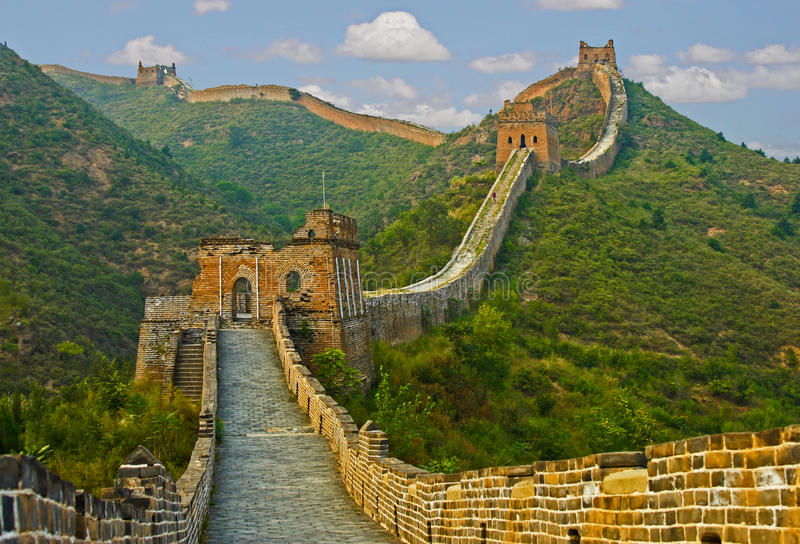 Wielki Mur Chiny obraz royalty free