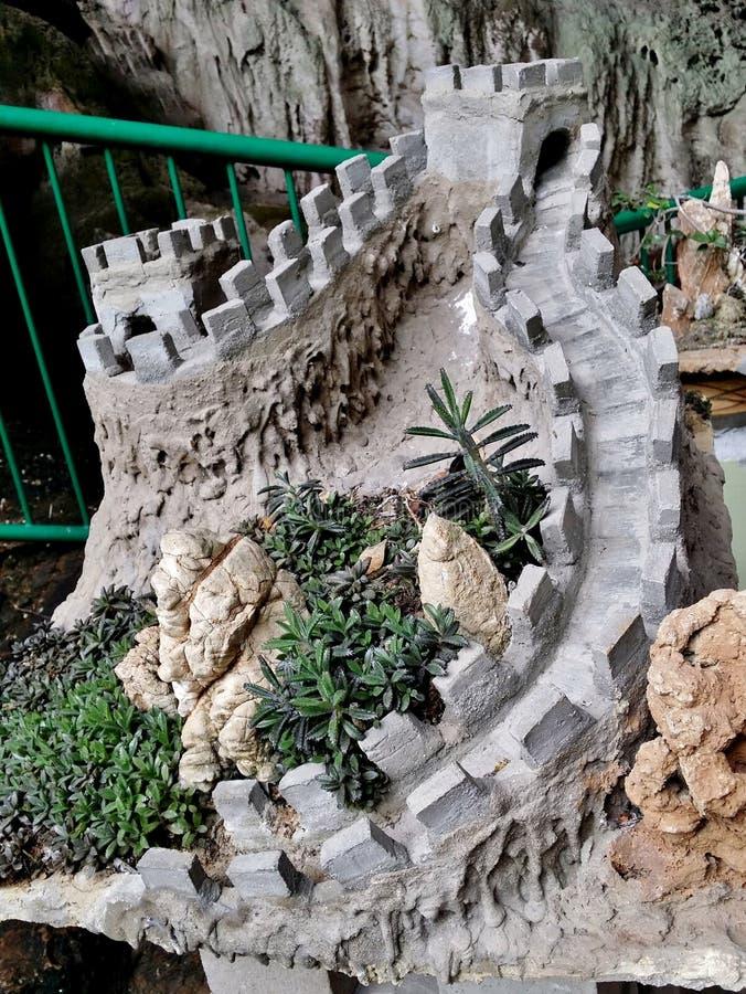 Wielki mur Chiny model zdjęcie stock